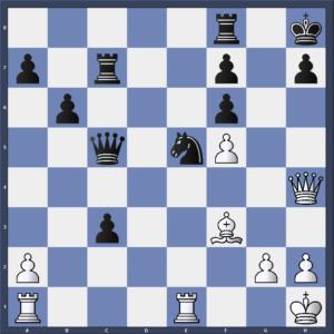 Abel gegen Mätzig nach 30.Dh4