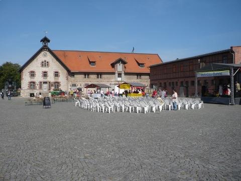 Der Schlosshof in Salder